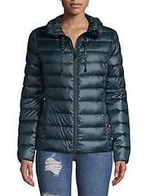 Via Spiga Quilted Puffer Jacket TEAL