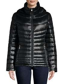 Calvin Klein Short Packable Puffer Coat BLACK