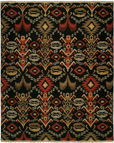 Suez Hand-Woven Black/Brown Area Rug
