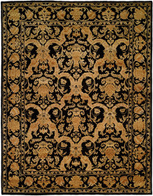 Anchorage Hand-Knotted Black/Gold Area Rug