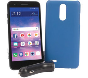 Tracfone LG Rebel 4 Smartphone with Case and 1200