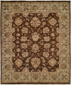 Sacramento Hand-Knotted Brown/Blue Area Rug