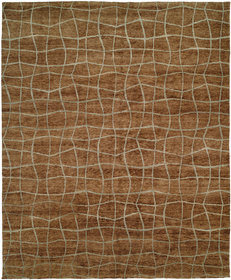 San Antonio Hand-Knotted Brown Area Rug