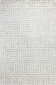 Donnie Hand-Tufted White/Grey Area Rug
