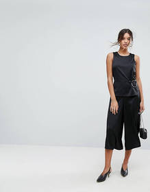 Aeryne Wide Leg Jumpsuit with Ring Detail