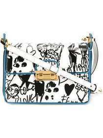 Lanvin 'Jiji' sketch print shoulder bag