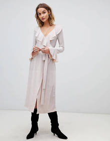 Free People One More Time glitter frill midi wrap