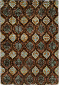 Guayaquil Hand-Knotted Brown/Ivory Area Rug