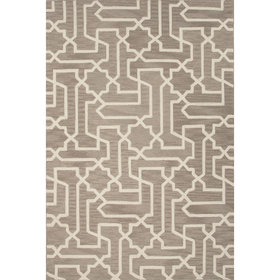 Dewberry Polyester Hand Tufted Taupe/Tan Area Rug