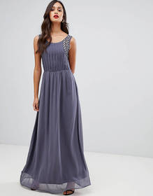 AX Paris pleated maxi dress with embellished detai