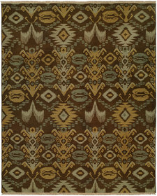 Gon Hand-Woven Brown/Green Area Rug