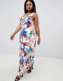 Praslin Floral Maxi Dress with Knot Front