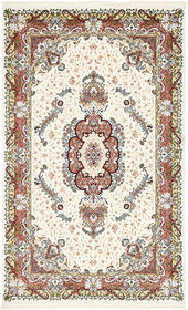 Courtright Cream/Burgundy Area Rug