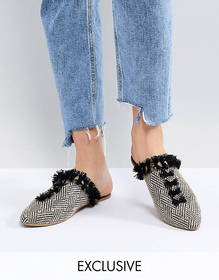 Maison Scotch Exclusive Slipper Shoes In Canvas An
