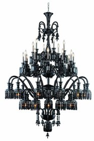 Leonardo 42-Light Metal Candle Style Chandelier