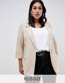 New Look Curve blazer in mink