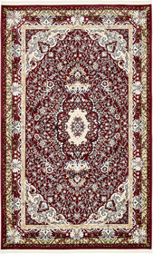 Courtright Burgundy/Ivory Area Rug