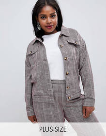 Glamorous Curve trucker jacket in princde of wales