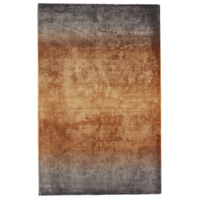 Brigida Hand-Loomed Gray/Brown Viscose Area Rug