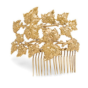 Forest Fairy Gold Hair Comb