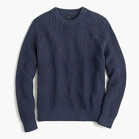 Cotton thermal heavyweight sweater