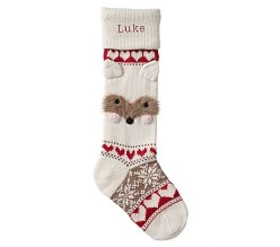 Raccoon Classic Fair Isle Stocking