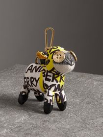 Wendy The Sheep Graffiti Print Cotton Charm in Yel
