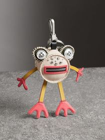 Doris The Frog Leather Charm in Limestone
