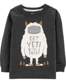 Toddler BoyYeti Snow Yarn Tee