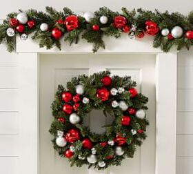 Ornament Pine Home Décor Collection - Red & Silver