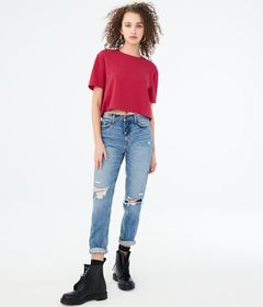 Solid '80s Boxy Crop Tee