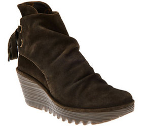 """As Is"" FLY London Suede Wedge Boots - Yama - A293"