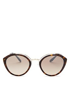 Prada - Women's Temple Evolution Mirrored Round Su