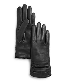 Fownes - Metisse Ruched Leather Tech Gloves