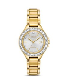 Citizen - Crystal Eco-Drive Gold-Tone Watch, 31mm