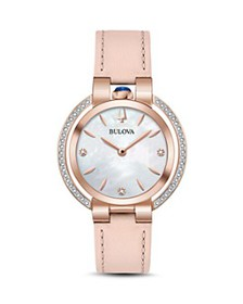 Bulova - Rubaiyat Rose Gold-Tone Watch, 35mm
