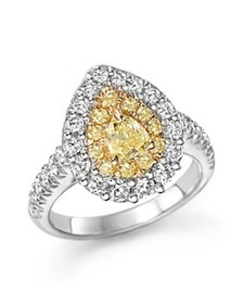 Bloomingdale's - Yellow and White Diamond Pear Sha