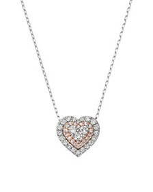 Bloomingdale's - Diamond Heart Pendant Necklace in