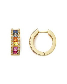 Bloomingdale's - Multi Sapphire and Diamond Hoop E