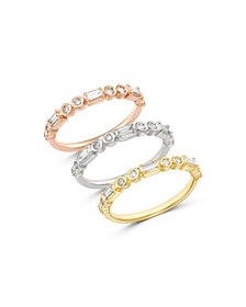 Bloomingdale's - Diamond Round & Baguette Stacking