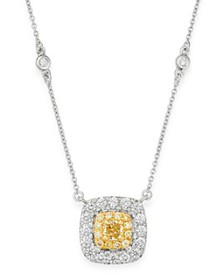 Bloomingdale's - Cushion-Cut Yellow & White Diamon