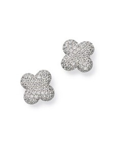 Bloomingdale's - Diamond Clover Stud Earrings in 1
