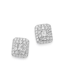Bloomingdale's - Diamond Halo Emerald-Cut Earrings