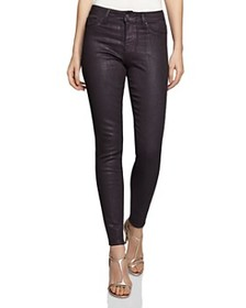 REISS - Lux Metallic Ankle Skinny Jeans in Berry