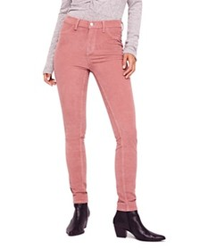 Free People - Corduroy Skinny Jeans in Mauve