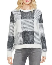VINCE CAMUTO - Oversize-Check Sweater
