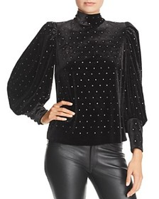 Rebecca Minkoff - Studded Balloon-Sleeve Velvet To
