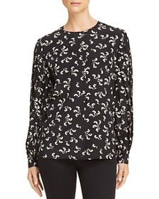 Elizabeth and James - Celie Printed Silk Top