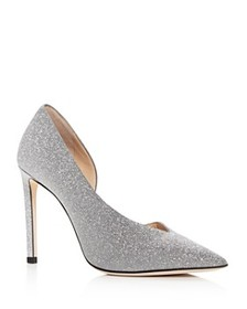 Jimmy Choo - Women's Sophia 100 Glitter Pointed To