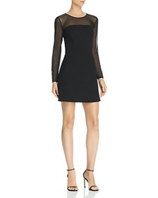 FRENCH CONNECTION - Ruth Sheer-Sleeve Dress - 100%